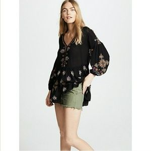 Free People | NWT Arianna Embroidered Tunic XS